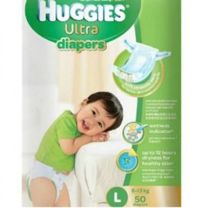 Huggies Ultra Diapers Large (8-13 kg) – 50pcs