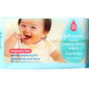 Johnson Fragrance Free Messy Wipes