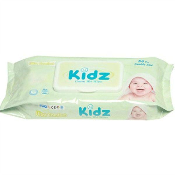 Kidz cotton wet wipes