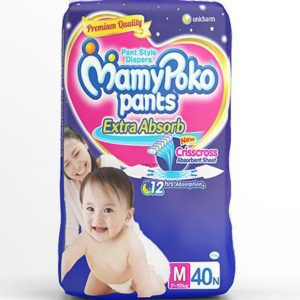 MamyPoko Pants Diapers Medium (7-12kg) – 40 pcs