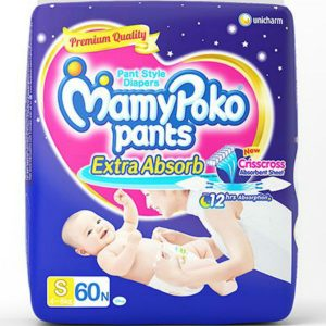 MamyPoko Pants Diapers Small (4-8kg) – 58 pcs