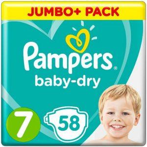 Pampers 7 (17+kg) – 58pcs