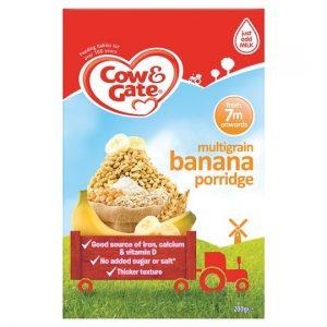 Cow & Gate Multigrain Banana Porridge From 7 months 200g pack Made in UK