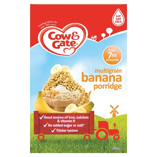 cow & gate multigrain banana porridge