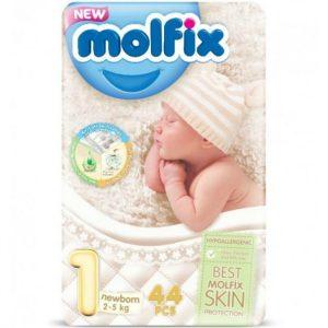 Molfix 1 (Newborn/2-5kg) – 44pcs