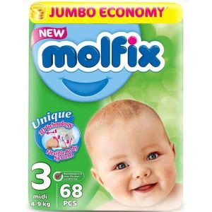 Molfix 3 (Midi/4-9kg) – 68pcs