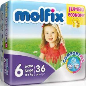 Molfix 6 (Extra Large/15+kg) – 36pcs