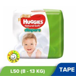 Huggies Natural Soft Diapers Large (8-13 kg) – 50pcs