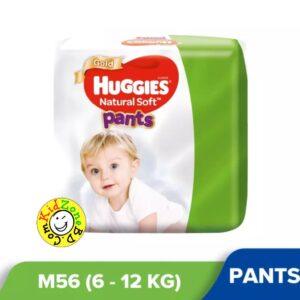 Huggies Natural Soft Pants Medium (6-12kg) – 56pcs
