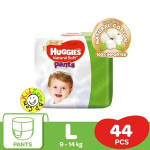Huggies Natural Soft Pants Large (9-14kg) – 44pcs