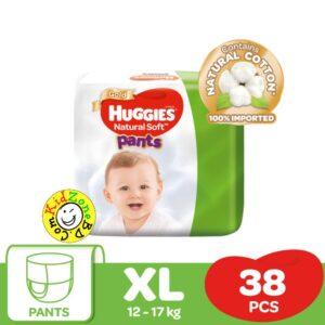 Huggies Natural Soft  Pants XL (12-17) – 38pcs