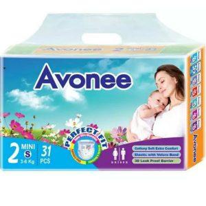 Avonee Diapers Mini/Small (3-6kg) – 31 pcs
