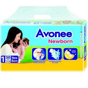 Avonee Diapers Newborn (2-5kg) – 30 pcs