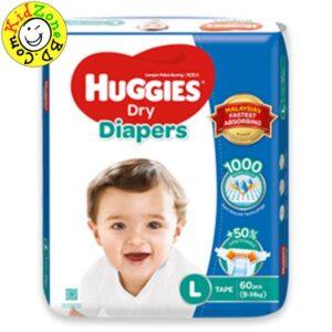 Huggies Diapers Dry Large (9-14 kg)