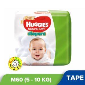 Huggies Natural Soft Diapers Medium (5-10 kg) – 60pcs