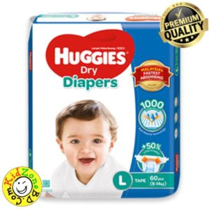 Huggies Diapers Dry Large (9-14 kg)