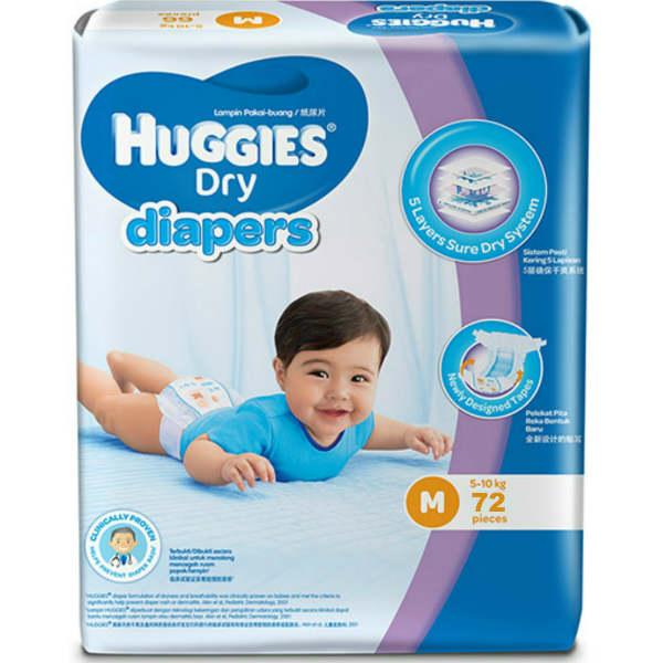 Huggies Diapers Dry Medium 5 10 Kg Kidzonebd