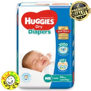 Huggies Diapers Dry Newborn (Up to 5 kg)