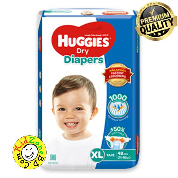 Huggies Diapers Dry XL