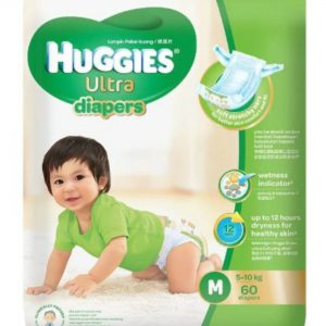 Huggies Ultra Diapers Medium (5-10 kg) – 60pcs