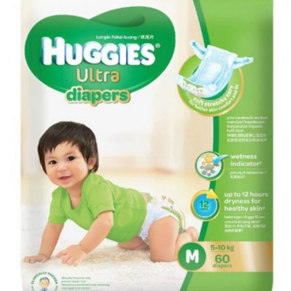 Huggies Ultra Diapers Medium 60