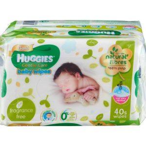 Huggies Gentle Care Baby Wipes – 40 pcs
