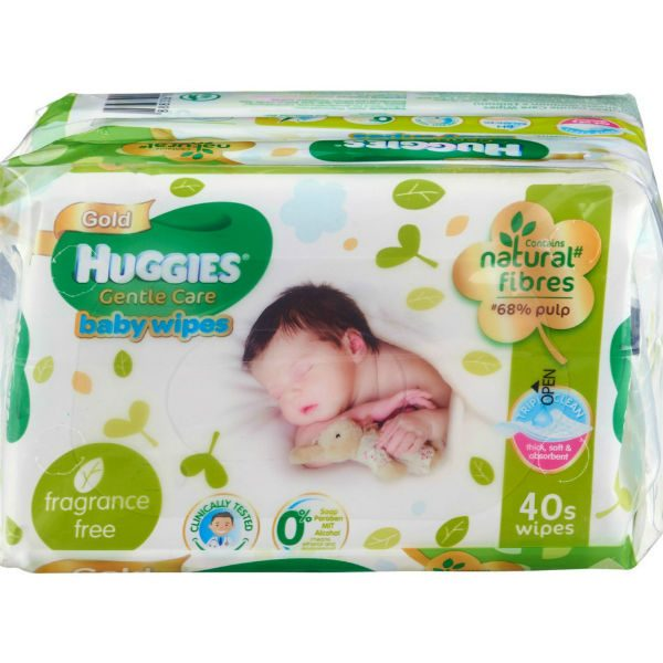Huggies gentle care baby wipes
