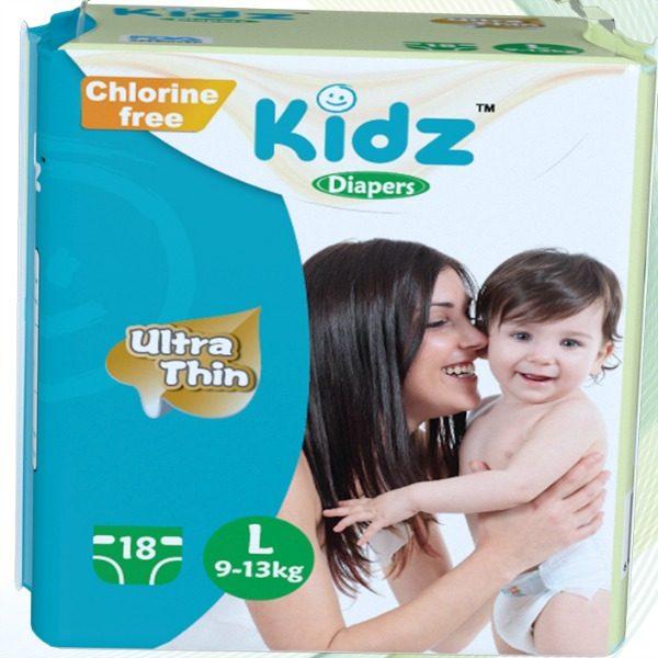 Kidz Diapers Large 18pcs