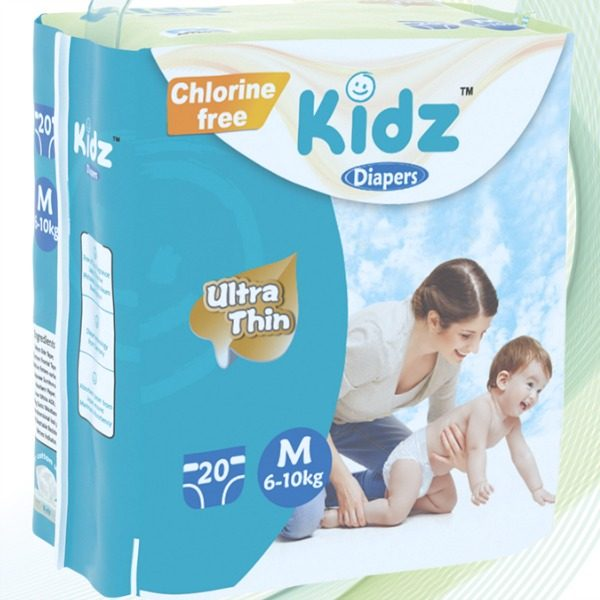 Kidz Diapers Medium 20pcs