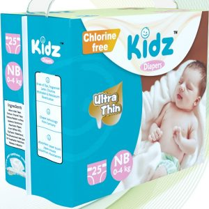 Kidz Ultra Thin Diapers Newborn (0-4kg) – 25 pcs