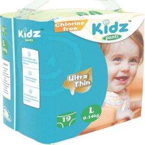 Kidz Pants Ultra Thin Diapers Large (9-14kg) – 19 pcs