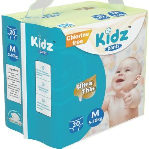 Kidz Pants Ultra Thin Diapers Medium (5-10kg) – 20 pcs