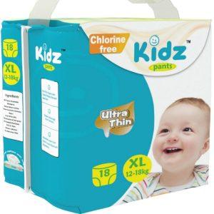Kidz Pants Ultra Thin Diapers XL (12-18kg) – 18 pcs