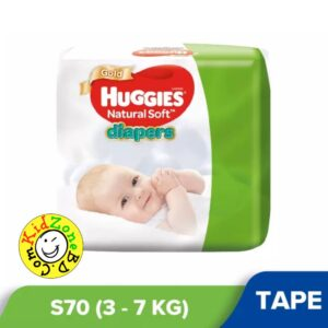 Huggies Natural Soft Diapers Small (3-7 kg) – 70pcs