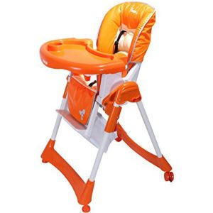 Farlin Baby Luxury Wheeled High Feeding Chair (Adjustable)