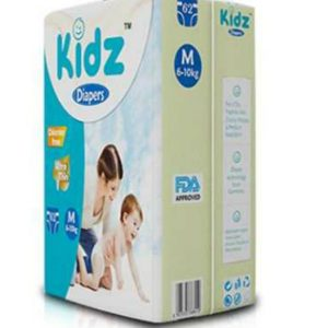 Kidz Ultra Thin Diapers Medium (6-10kg) – 62 pcs