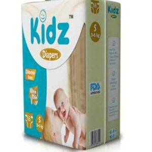 Kidz Ultra Thin Diapers Small (3-6kg) – 68 pcs