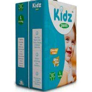 Kidz Pants Ultra Thin Diapers Large (9-14kg) – 58 pcs