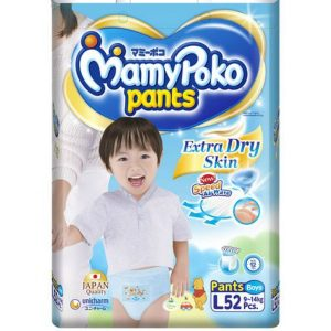 MamyPoko Pants Large (9-14 kg) – 52pcs (for Boys)