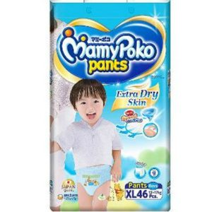 MamyPoko Pants XL (12-17 kg) – 46pcs (for Boys)
