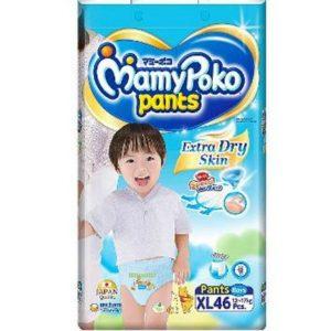 MamyPoko Pants XL (12-17 kg) – 46pcs (for Boys)