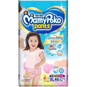 MamyPoko Pants XL (12-17 kg) – 46pcs (for Girls)