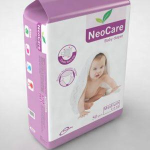 NeoCare Diapers Medium (4-9kg) – 50pcs