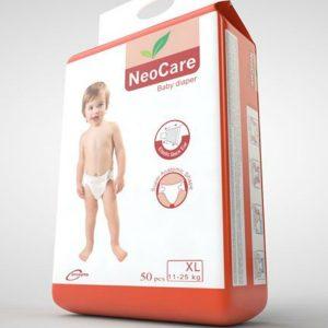 NeoCare Diapers XL (11-25kg) – 50pcs