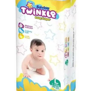 Savlon Twinkle Diapers Large (7-18kg) – 36pcs