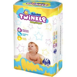 Savlon Twinkle Diapers Medium (6-11kg) – 40pcs