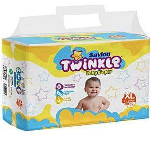 Savlon Twinkle Diapers XL (11-25kg) – 32pcs