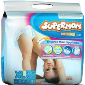 SuperMom Diapers XL (12–17kg) – 20pcs