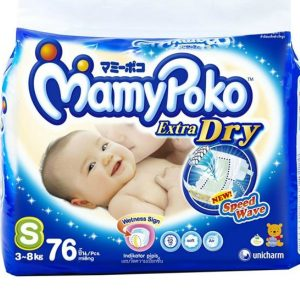 MamyPoko Extra Dry Small (3-8kg) – 76pcs