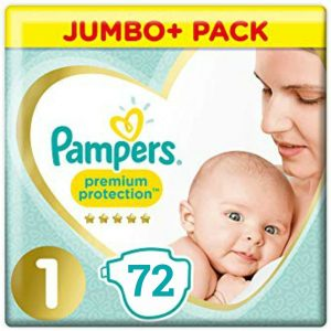 Pampers 1 (2-5kg) Premium Protection – 72pcs